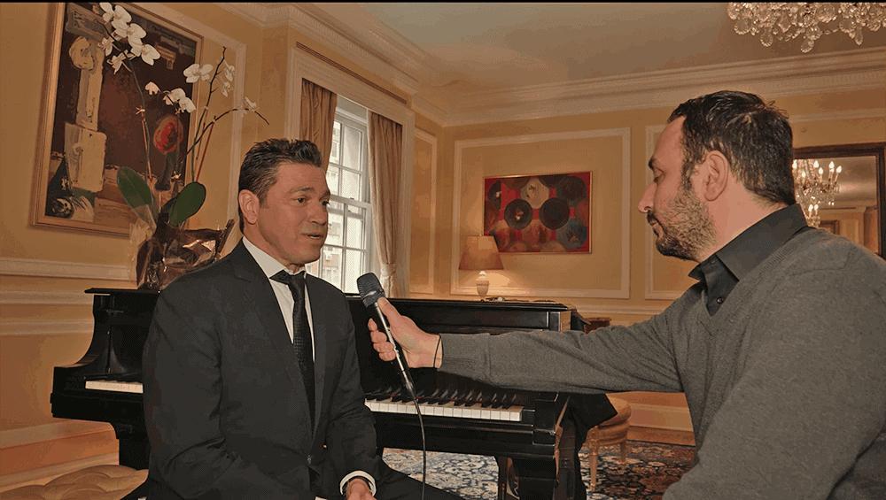 The international renown Greek Artist Mario Frangoulis in New York